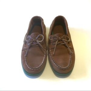 Sperry topsider loafers boat shoes green soles